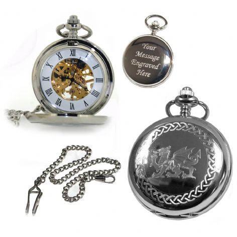Welsh Mechanical Skeleton Pocket Watch